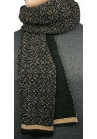 Brązowy szalik V. Fraas elegancki, melanż, na zimę