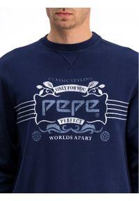 Pepe Jeans Bluza Shaan PM581634 Granatowy Regular Fit. Kolor: niebieski