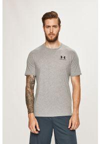 Szary t-shirt Under Armour z okrągłym kołnierzem