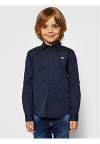 Guess Koszula L81H14 W7RY0 Granatowy Regular Fit. Kolor: niebieski
