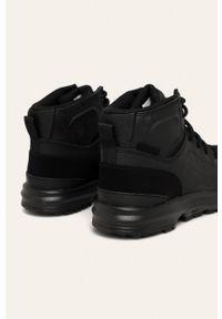 Czarne sneakersy DC na sznurówki, z cholewką