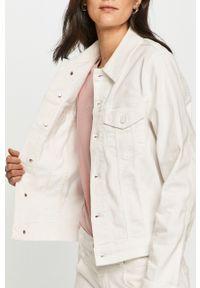 Biała kurtka Calvin Klein gładkie, na co dzień