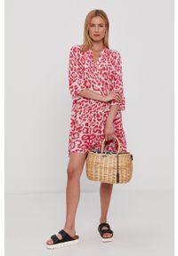 Haily's - Sukienka. Kolor: różowy. Materiał: tkanina. Typ sukienki: rozkloszowane