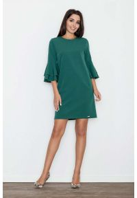 Zielona sukienka hiszpanka Figl elegancka