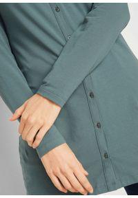 Zielona bluzka bonprix z kapturem, długa