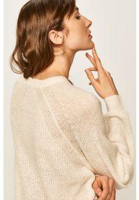 Kremowy sweter ANSWEAR z okrągłym kołnierzem, raglanowy rękaw #5