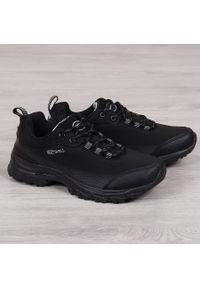 Buty trekkingowe męskie wodoodporne czarne American Club. Kolor: czarny. Materiał: skóra ekologiczna, materiał