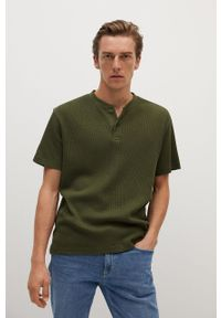 T-shirt Mango Man na co dzień, krótki