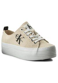 Beżowe buty sportowe Calvin Klein Jeans