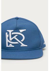Niebieska czapka z daszkiem Prosto. z nadrukiem