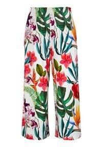 Cellbes Spodnie typu culotte z marszczeniami w pasie. biały we wzory female biały/ze wzorem 34/36. Okazja: na co dzień. Kolor: biały. Materiał: jersey. Styl: casual