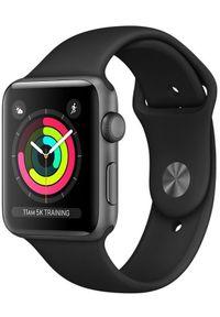 Apple Refurbished smartwatch Watch Series 3, 42mm Space Gray Aluminium Case with Black Sport Band. Rodzaj zegarka: smartwatch. Kolor: wielokolorowy, czarny, szary. Styl: sportowy
