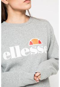 Kremowa bluza Ellesse na co dzień, casualowa, z okrągłym kołnierzem, z nadrukiem