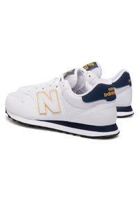 Białe sneakersy New Balance z cholewką