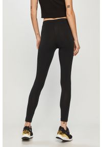 Czarne legginsy Pinko z podwyższonym stanem, gładkie, klasyczne