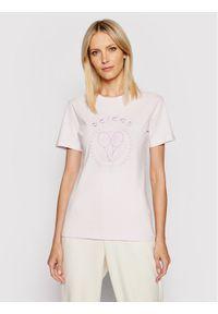 Adidas - adidas T-Shirt Tennis Luxe Graphic H56456 Różowy Regular Fit. Kolor: różowy