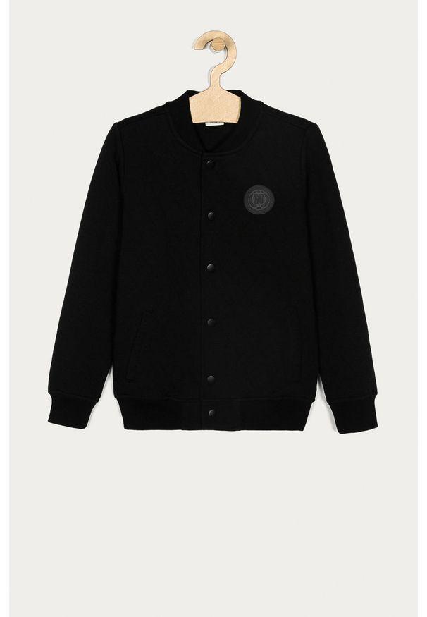 Czarna bluza rozpinana Name it na co dzień, casualowa, bez kaptura