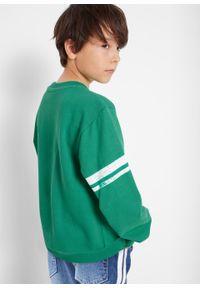 Zielona bluza bonprix z nadrukiem, sportowa