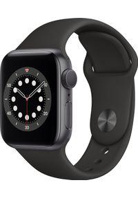 APPLE - Smartwatch Apple Watch Series 6 GPS 40mm Gray Alu Black Sport Czarny (MG133WB/A). Rodzaj zegarka: smartwatch. Kolor: czarny. Styl: sportowy