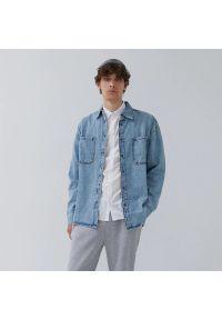 House - Jeansowa koszula z kieszeniami - Niebieski. Kolor: niebieski. Materiał: jeans