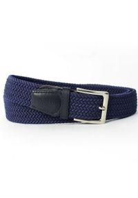 Niebieski pasek Solier w kolorowe wzory, elegancki