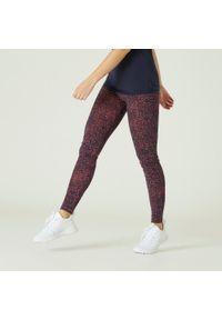 NYAMBA - Legginsy fitness FIT+. Kolor: pomarańczowy. Materiał: materiał, bawełna, elastan. Wzór: gładki, nadruk. Sport: fitness