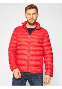 Czerwona kurtka puchowa Polo Ralph Lauren polo