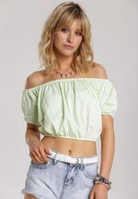 Renee - Limonkowa Bluzka Amalisis. Długość: krótkie