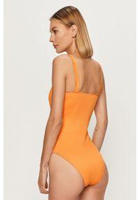 Pomarańczowy strój kąpielowy Vero Moda z wyjmowanymi miseczkami