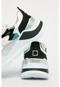 Szare buty sportowe D.A.T.E. na średnim obcasie, na obcasie