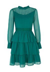 Zielona sukienka TOP SECRET koszulowa