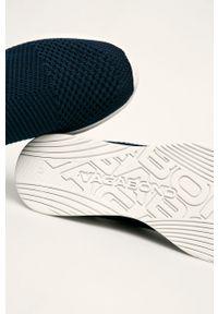 Niebieskie buty sportowe vagabond z cholewką, z okrągłym noskiem