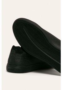 Czarne sneakersy Aldo z okrągłym noskiem, z cholewką, na sznurówki