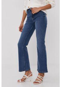 Niebieskie jeansy bootcut Jacqueline de Yong z podwyższonym stanem