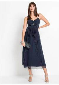 Niebieska sukienka bonprix maxi