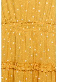 Vila - Sukienka. Kolor: zielony. Materiał: tkanina. Długość rękawa: długi rękaw. Typ sukienki: rozkloszowane