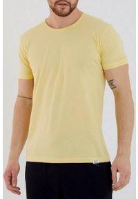 IVET - T-shirt męski FABER YELLOW. Okazja: na co dzień. Kolor: żółty. Materiał: materiał, jeans. Styl: casual, klasyczny #1