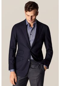 Eton - ETON - Koszula. Typ kołnierza: kołnierzyk klasyczny. Kolor: niebieski. Materiał: tkanina. Długość rękawa: długi rękaw. Długość: długie. Wzór: gładki. Styl: klasyczny