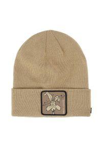 Beżowa czapka CapsLab z aplikacjami