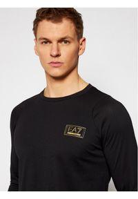 Czarna koszulka z długim rękawem EA7 Emporio Armani