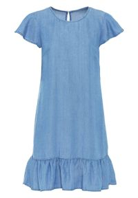 "Sukienka TENCEL™ lyocell bonprix niebieski ""bleached"". Kolor: niebieski. Materiał: lyocell"