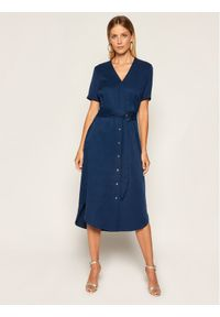 Niebieska sukienka Calvin Klein koszulowa