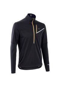 EVADICT - Bluza softshell do biegania w terenie męska. Kolor: czarny. Materiał: poliester, materiał