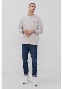 Levi's® - Levi's - Bluza bawełniana. Okazja: na co dzień, na spotkanie biznesowe. Kolor: szary. Materiał: bawełna. Wzór: gładki. Styl: casual, biznesowy