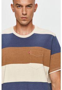 Wielokolorowy t-shirt Levi's® w kolorowe wzory, z okrągłym kołnierzem
