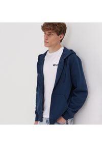Sinsay - Bluza z kapturem - Granatowy. Typ kołnierza: kaptur. Kolor: niebieski