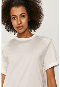 Biała bluzka Miss Sixty casualowa, z okrągłym kołnierzem, na co dzień