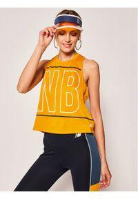 Żółta koszulka sportowa New Balance