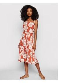 Roxy Sukienka letnia Strappy ERJWD03540 Pomarańczowy Regular Fit. Kolor: pomarańczowy. Sezon: lato