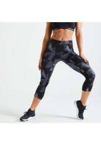 Legginsy do fitnessu DOMYOS w ażurowe wzory
